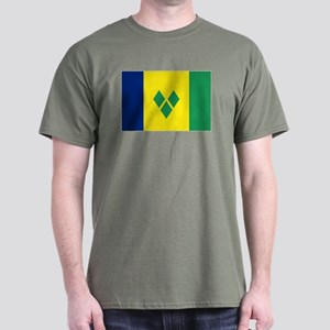 St Vincent & The Grenadines Nal flag Dark T-Shirt